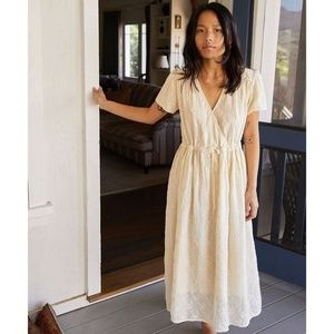 Christy Dawn Yellow Vintage Embroider Dress
